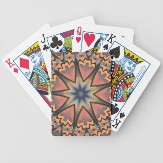 Pretty Peach Gray Starburst Pattern Poker Deck