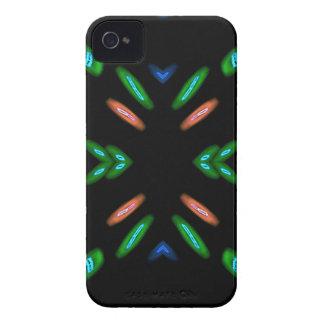Pretty Peach Green on Black Background iPhone 4 Case-Mate Case