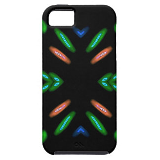 Pretty Peach Green on Black Background iPhone 5 Case