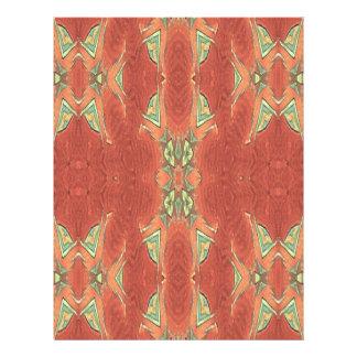 Pretty Peach Tribal Pattern. Custom Letterhead
