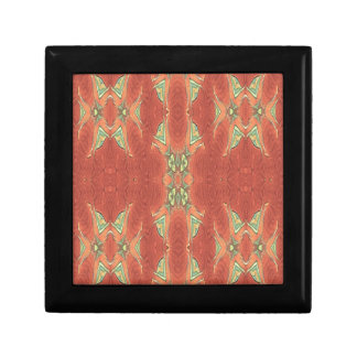 Pretty Peach Tribal Pattern. Trinket Box