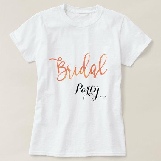 Pretty Peachy Bridal Party Monogram Custom T-Shirt