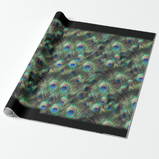 Pretty Peacock Feather Animal Print Wrapping Paper