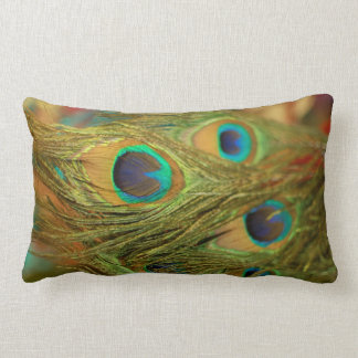 Pretty Peacock Feathers Home Decor Throw Pillow