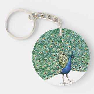 Pretty Peacock Feathers Keychain
