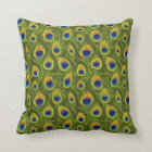 Pretty Peacock Feathers Pattern Throw Pillow