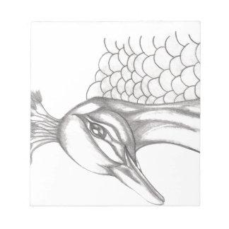 Pretty Peacock Notepad