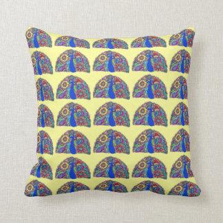 Pretty Peacock Tiled Pillow