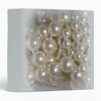Pretty Pearls Home Office 3 Ring Binders