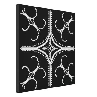 Pretty Pearly Stretched Wrapped Canvas Print 12x12