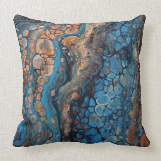 Pretty pebbles of colour throw pillow