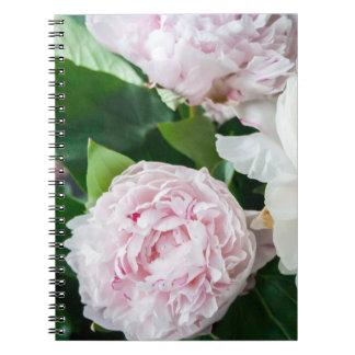 Pretty Peonies Pastel Bouquet Notebooks