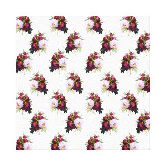 Pretty Peonies Pattern Canvas Print