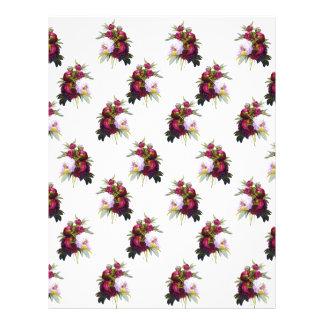 Pretty Peonies Pattern Letterhead