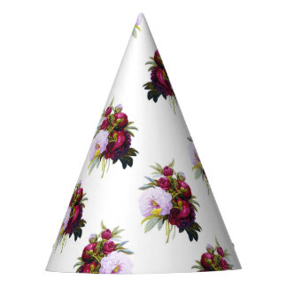 Pretty Peonies Pattern Party Hat