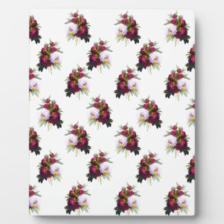 Pretty Peonies Pattern Plaque