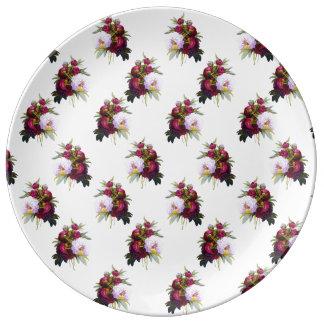 Pretty Peonies Pattern Plate