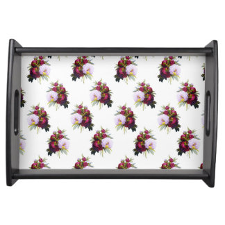 Pretty Peonies Pattern Serving Tray