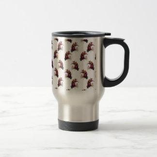 Pretty Peonies Pattern Travel Mug