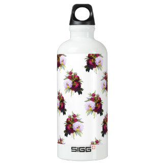 Pretty Peonies Pattern Water Bottle