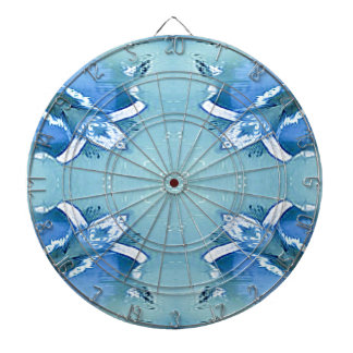 Pretty Personalizable Shades of Blues Dartboard