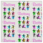 PRETTY PERSONALIZED FIGURE SKATER FABRIC