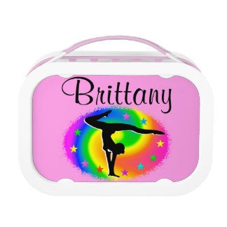 PRETTY PERSONALIZED GYMNASTICS LUNCHBOX