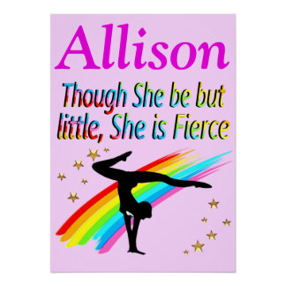 PRETTY PERSONALIZED GYMNASTICS POSTER