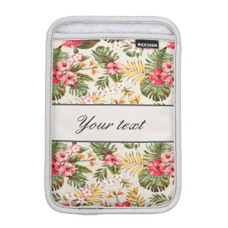Pretty Personalized Hibiscus Pattern iPad Mini Sleeve