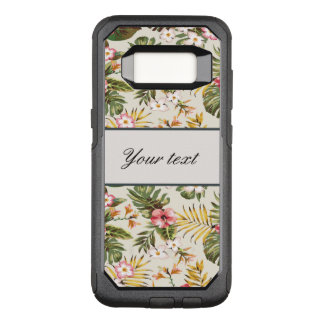 Pretty Personalized Hibiscus Pattern OtterBox Commuter Samsung Galaxy S8 Case