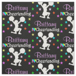 PRETTY PERSONALIZED I LOVE CHEERLEADING FABRIC