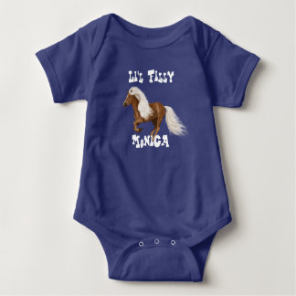"Pretty Personalized ""Little Filly"" Baby Bodysuit"