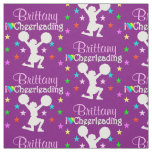 PRETTY PERSONALIZED PURPLE CHEERLEADING FABRIC