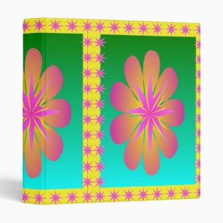Pretty Petals Vinyl Binders