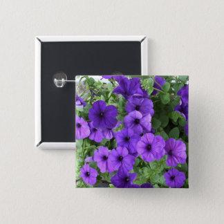 Pretty Petunias 2 Inch Square Button