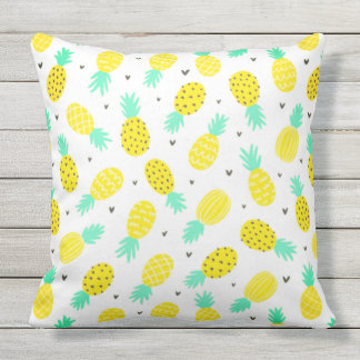 Pretty Pineapple Pattern Patio Pillow