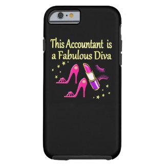PRETTY PINK ACCOUNTANT DIVA DESIGN TOUGH iPhone 6 CASE