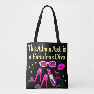 PRETTY PINK ADMIN ASST DIVA DESIGN TOTE BAG