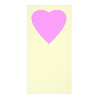 Pretty Pink and Cream Love Heart Personalized Photo Card