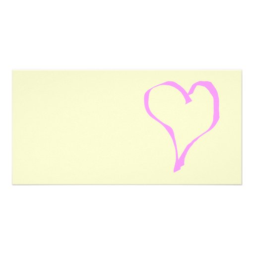 Pretty Pink and Cream Love Heart. Photo Greeting Card