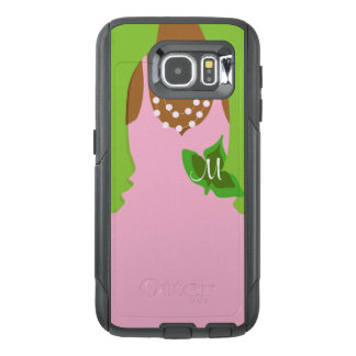 Pretty pink and Green OtterBox Samsung Galaxy S6 Case