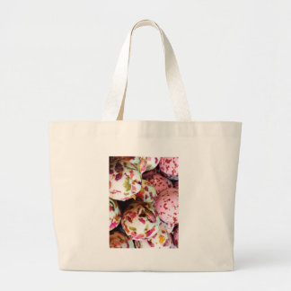 Pretty Pink and Marbled Bath Bombs - Beauty Print Large Tote Bag