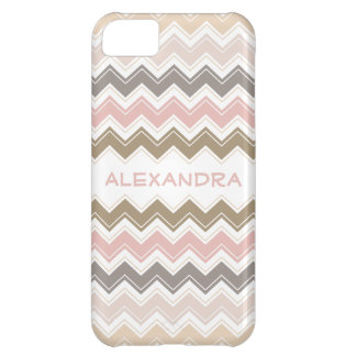 Pretty Pink and Rose Pastels Retro Chevron Pattern iPhone 5C Cases