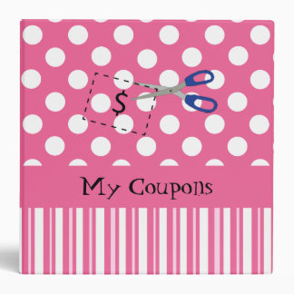 Pretty Pink and White Coupon Organizer Binders