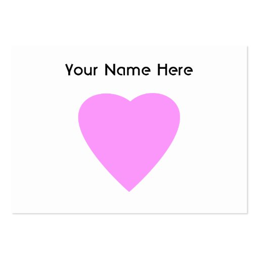 Pretty Pink and White Love Heart. Business Card Templates