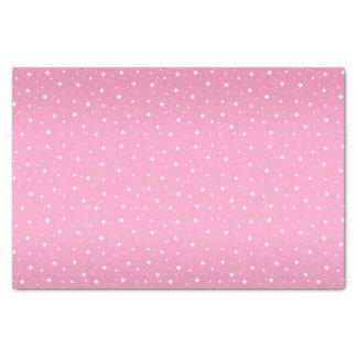 Pretty Pink and White Stars Tissue Paper