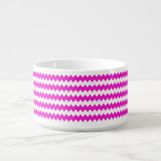 Pretty Pink and White ZigZag Chevron Bowl