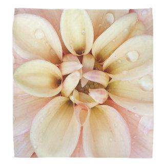 Pretty Pink and Yellow Flower Watercolor Bandana