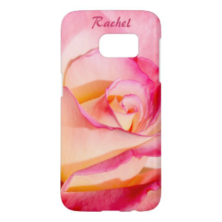 Pretty Pink and Yellow Rose Samsung Galaxy S7 Case