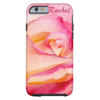 Pretty Pink and Yellow Rose Tough iPhone 6 Case
